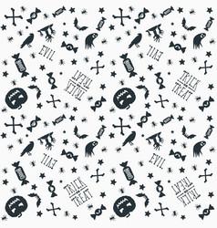 halloween background seamless pattern design vector image