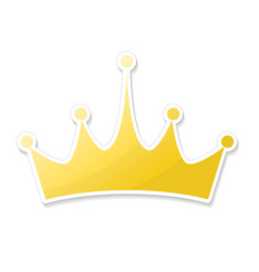 Hand drawn crown logo and icon in cartoon style vector