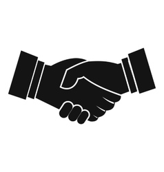 Handshake icon simple style vector