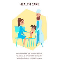 health care pediatrician examination vector image