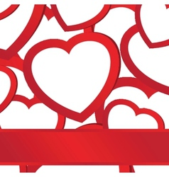 Holiday background with valentines hearts vector image