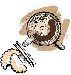 hot coffee cup vector image