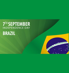 independence day of brazil flag and patriotic vector image