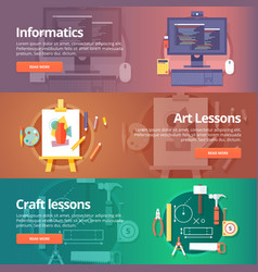 informatics lesson computer technologies vector image