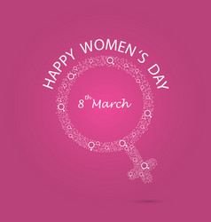 International womens day iconwomens day vector