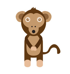 isolated stuffed monkey toy vector image