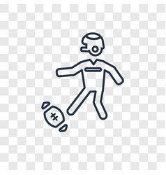 kicking the ball concept linear icon isolated on vector image