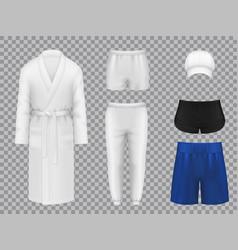 male clothes realistic linen sportswear vector image