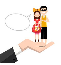 man and woman in hand happy young couple in love vector image