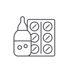 medicines line icon concept medicines vector image