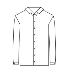 Monochrome silhouette of shirt long sleeve man vector