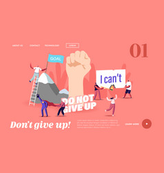 Motivation and aspiration landing page template vector