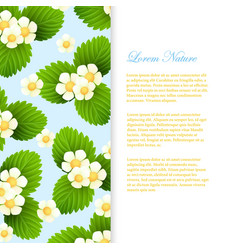nature banner template with realistic leaves and vector image