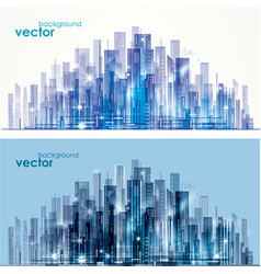 night and day city skyline vector image