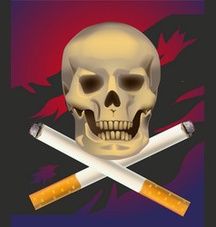 no smoking cigarette vector image