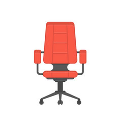 office chair flat design vector image