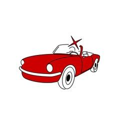 oldtimer-cabriolet vector image