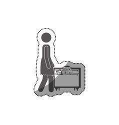 Pictogram passenger and baggage design vector