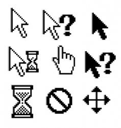 Pixelated graphics vector