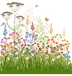 plants and grasses vector image