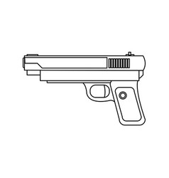 Powerful pistol gun handgun game weapon vector