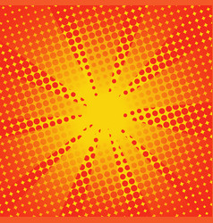 retro rays comic yellow orange background vector image