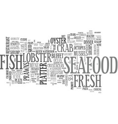 Seafood word cloud concept vector