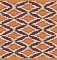 Seamless ikat ethnic pattern vector