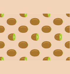 seamless pattern with kiwi fruit vector image
