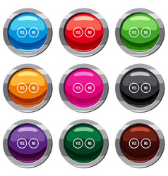 Selection buttons yes and no set 9 collection vector
