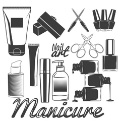 set of manicure tools Nails manicure vector image