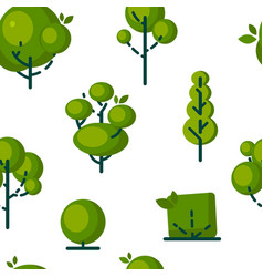 simple tree icons in flat style vector image