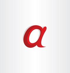 Small letter a symbol design vector