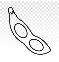Soybean soya beans line art icon for apps vector