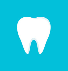 teeth icon isolated on blue background clean vector image