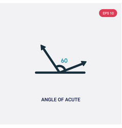 Two color angle acute icon from shapes concept vector
