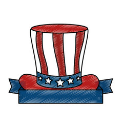 united states of america hat vector image