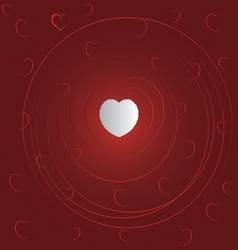 valentine red love card vector image
