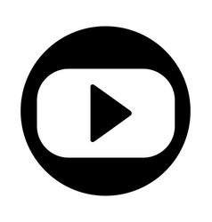 video player icon isolated on white vector image