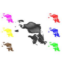 West papua province map vector