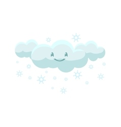 White snowing cloud vector