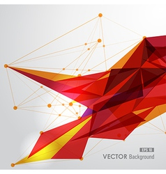 Yellow and red web geometric transparency vector