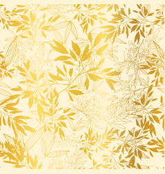 gold yellow leaves and branches repeat vector image vector image