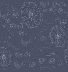 hand drawn bicycle seamless pattern vector image