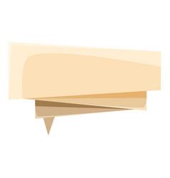 Origami speech bubble icon cartoon style vector