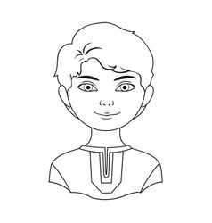 russianhuman race single icon in outline style vector image vector image