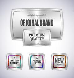 Set mosaic metal label shopping vector