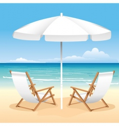 beach chair vector image vector image