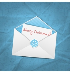 Christmas envelope vector image