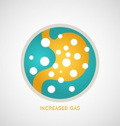 Increased Gas Poster vector image